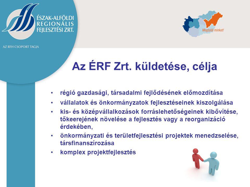 régió gazdasági, társadalmi fejlődésének előmozdítása vállalatok és önkormányzatok fejlesztéseinek kiszolgálása kis- és középvállalkozások forráslehet