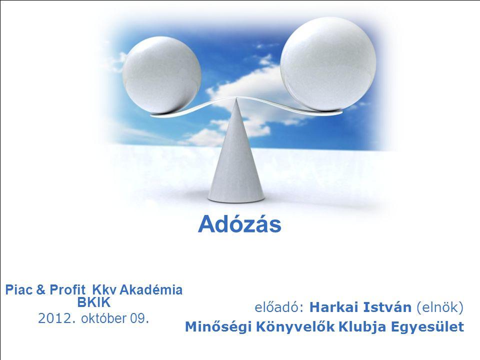 Free Powerpoint Templates Page 1 Free Powerpoint Templates Adózás Piac & Profit Kkv Akadémia BKIK 2012. október 09. előadó: Harkai István (elnök) Minő
