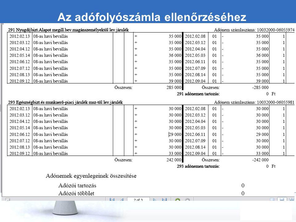 Free Powerpoint Templates Page 22 Az adófolyószámla ellenőrzéséhez