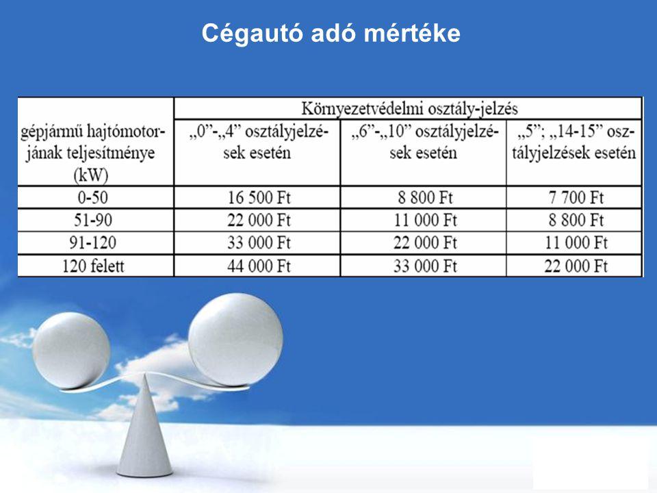 Free Powerpoint Templates Page 87 Cégautó adó mértéke