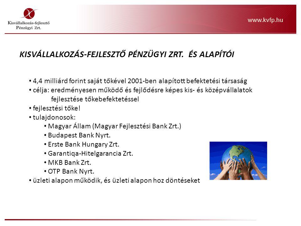4,4 milliárd forint saját tőkével 2001-ben alapított befektetési társaság célja: eredményesen működő és fejlődésre képes kis- és középvállalatok fejle