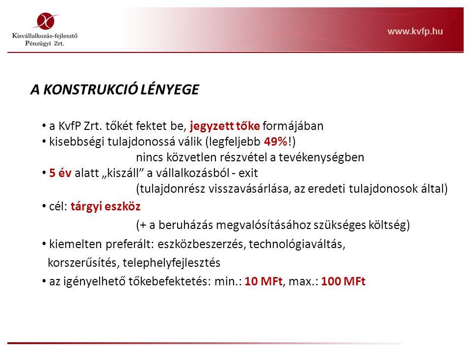 Inno A KONSTRUKCIÓ LÉNYEGE (eltérés az alap termékhez képest) a KvfP Zrt.
