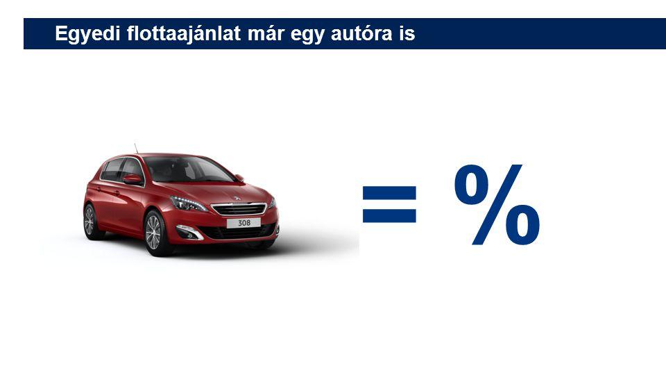 = % Egyedi flottaajánlat már egy autóra is