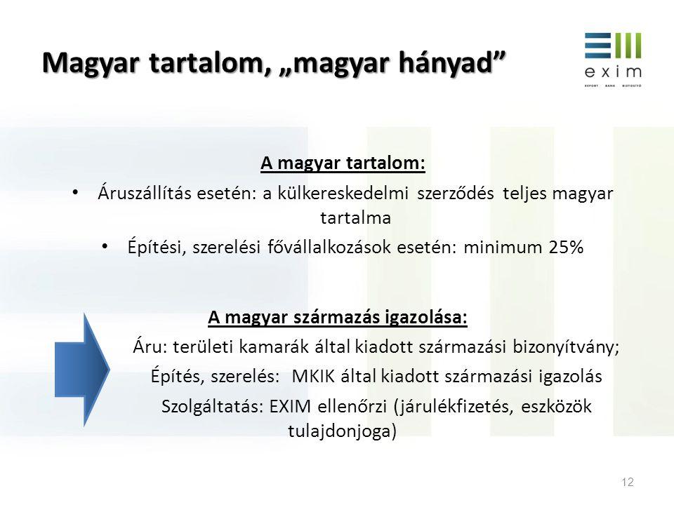 Új irányok A jogszabályi módosítás (2012.