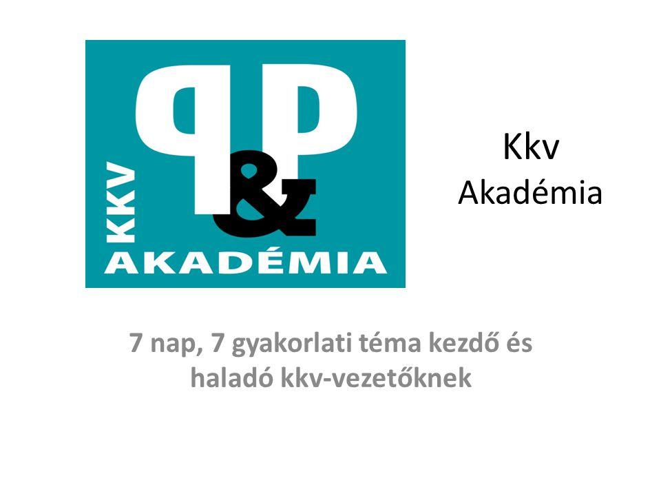Kkv Akadémia 7 nap, 7 gyakorlati téma kezdő és haladó kkv-vezetőknek
