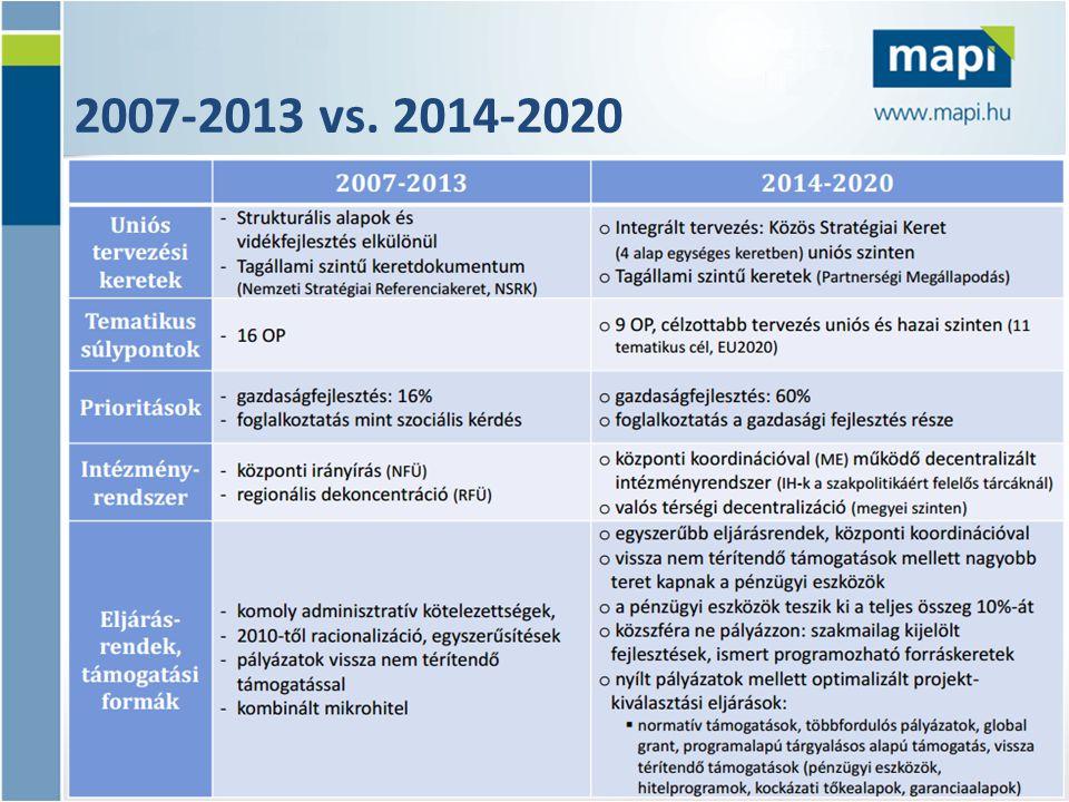 2007-2013 vs. 2014-2020