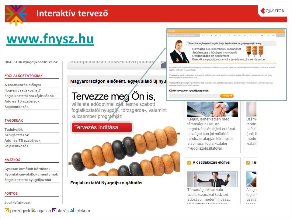 Interaktív tervező www.fnysz.hu