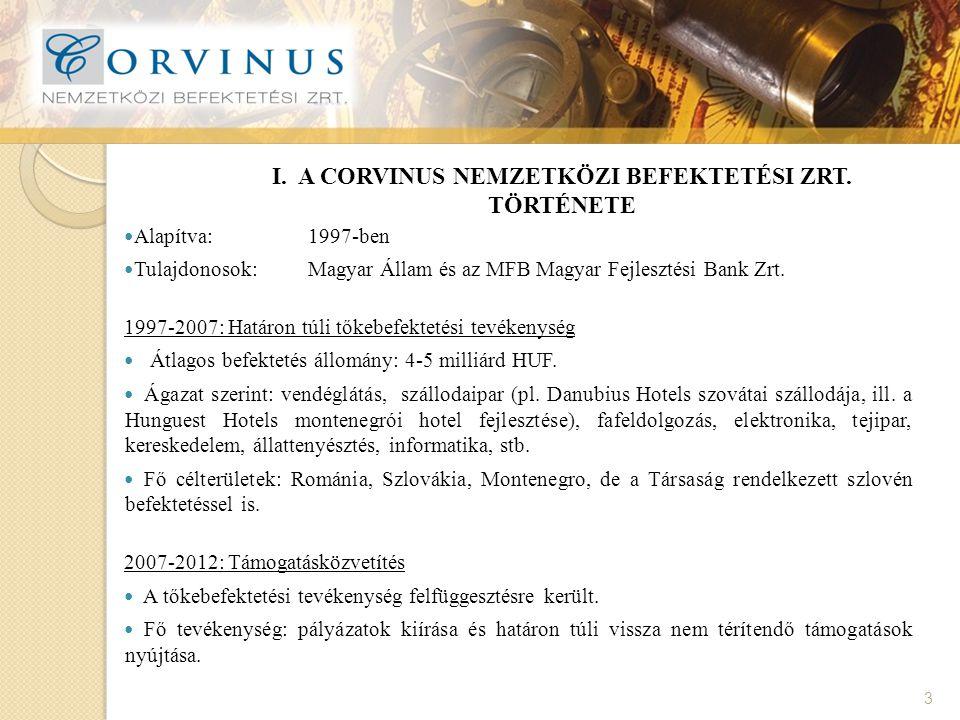 II.KÜLDETÉS, TŐKEBEFEKTETÉSI TEVÉKENYSÉG 4 A 1500/2011.