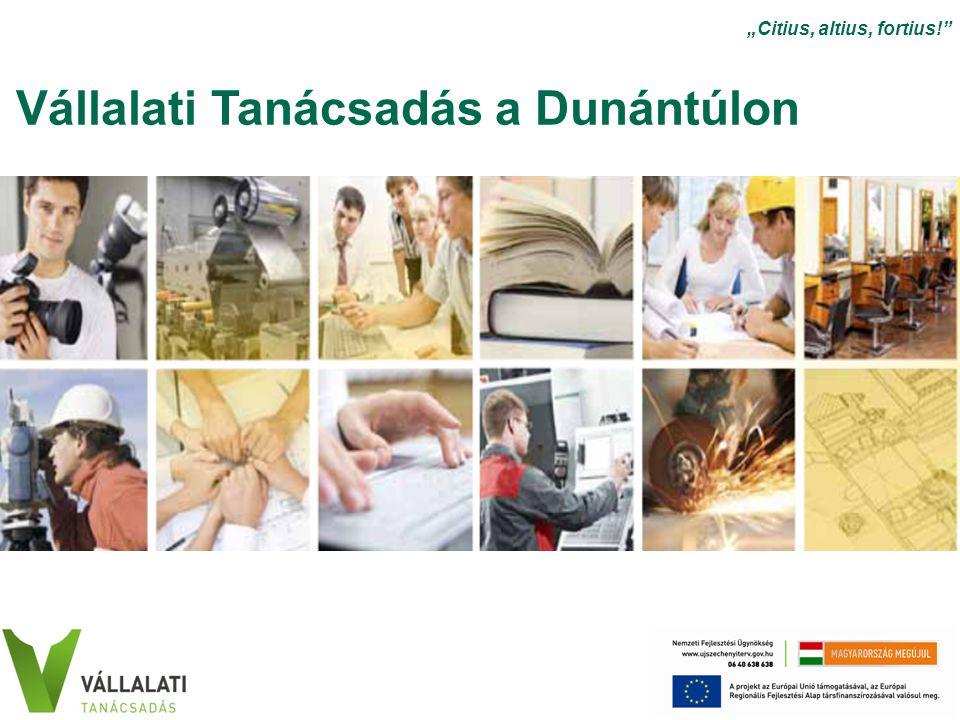 """Vállalati Tanácsadás a Dunántúlon """"Citius, altius, fortius!"""