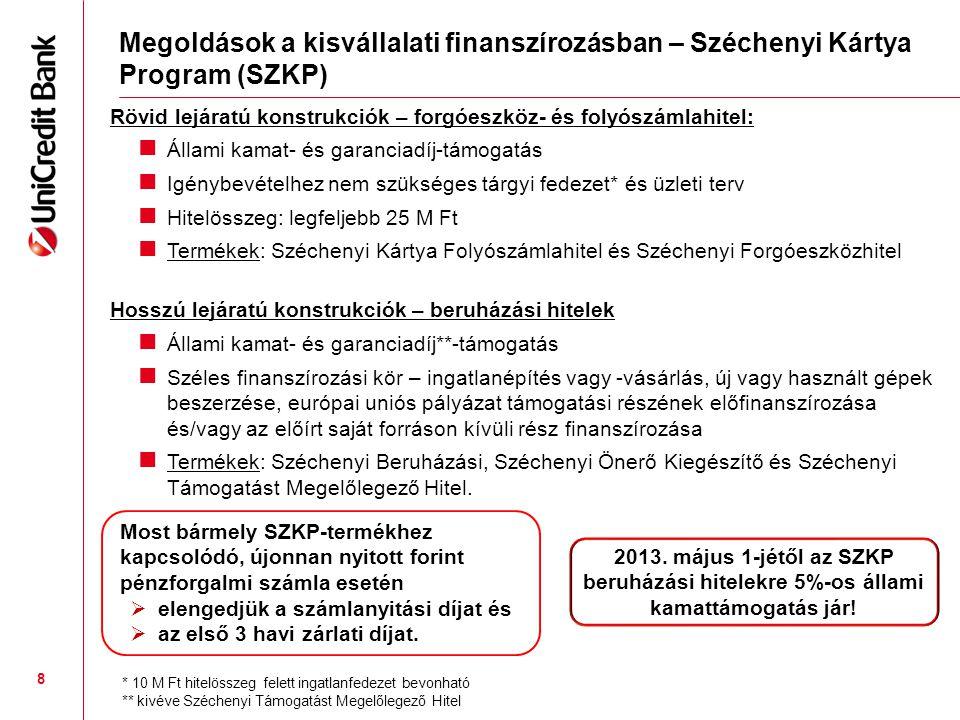 További megoldások – kedvező kamatozású beruházási hitelek és speciális finanszírozások EIB KKV Hitel: Kedvező hitelkamattal – támogatástartalom nélkül (nincs de minimis korlát!).