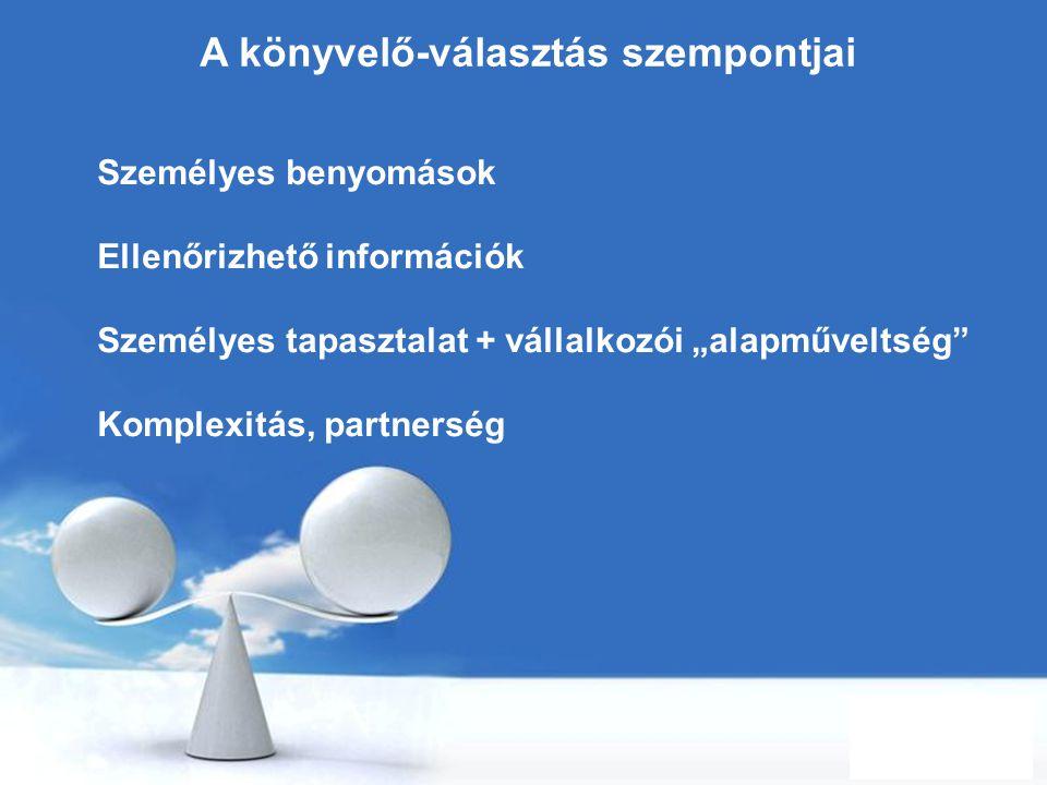 Free Powerpoint Templates Page 27 A könyvelő-választás szempontjai Személyes benyomások Ellenőrizhető információk Személyes tapasztalat + vállalkozói
