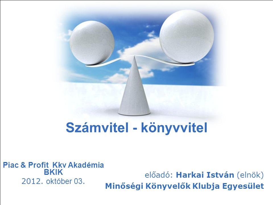 Free Powerpoint Templates Page 83 Free Powerpoint Templates Számvitel - könyvvitel Piac & Profit Kkv Akadémia BKIK 2012. október 03. előadó: Harkai Is