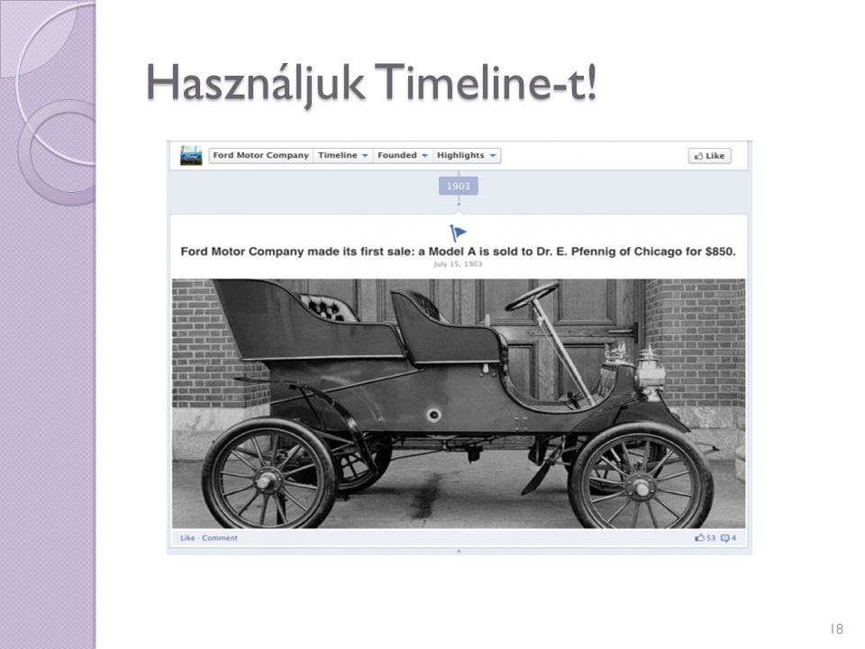 Használjuk Timeline-t! 18
