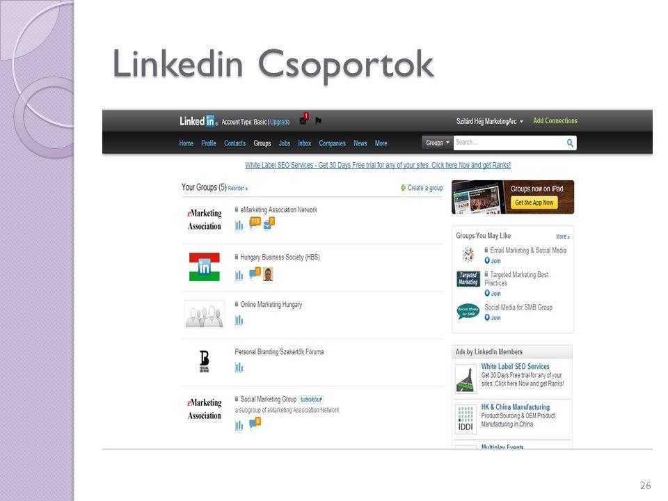Linkedin Csoportok 26