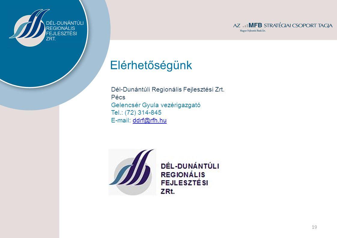 Elérhetőségünk Dél-Dunántúli Regionális Fejlesztési Zrt.