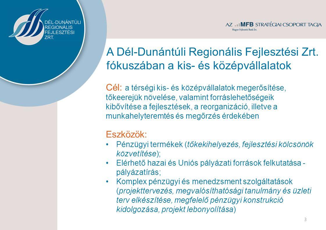 Partnereink, együttműködéseink 14 Magyar Fejlesztési Bank Zrt.