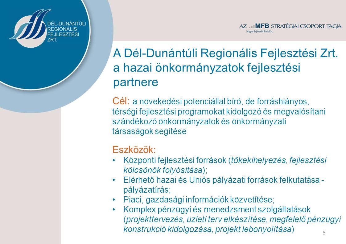 Eredményeink a régióban Az ÚMFT keretében jellemzően nagyobb volumenű önkormányzati projektek a Közép- Dunántúlon Részvétel kb.