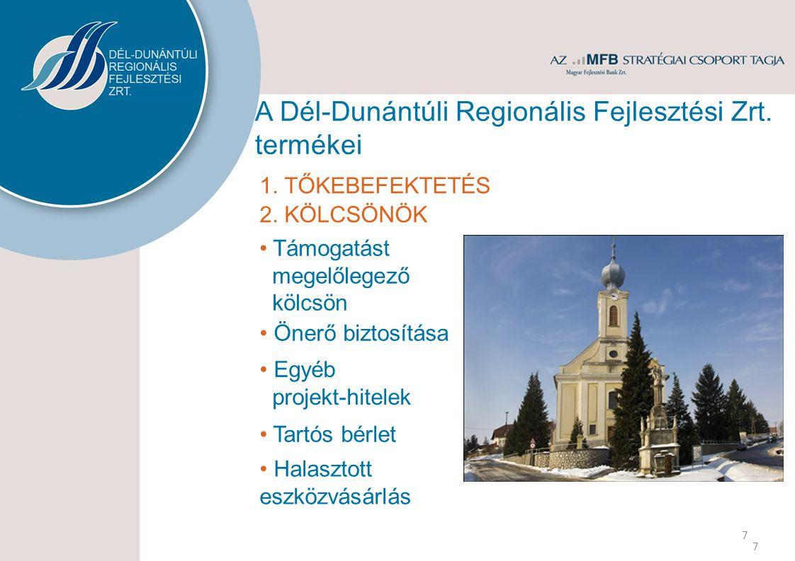 A Dél-Dunántúli Regionális Fejlesztési Zrt. termékei 7 1.