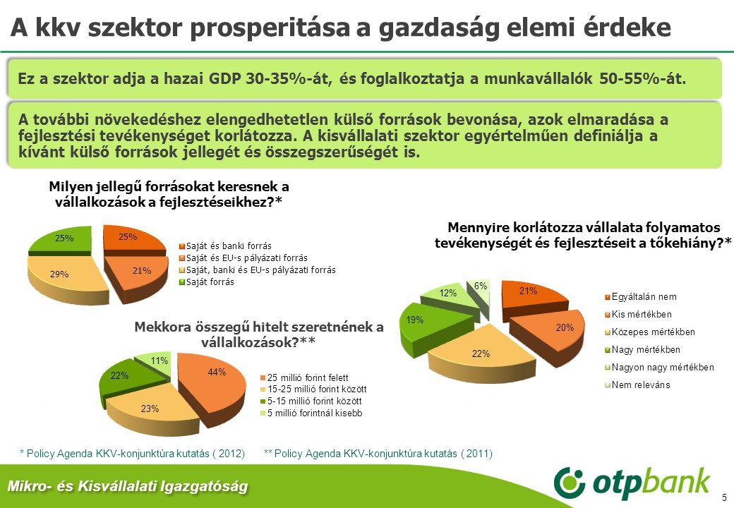 A kkv szektor prosperitása a gazdaság elemi érdeke 5 ** Policy Agenda KKV-konjunktúra kutatás ( 2011) Mikro- és Kisvállalati Igazgatóság Ez a szektor