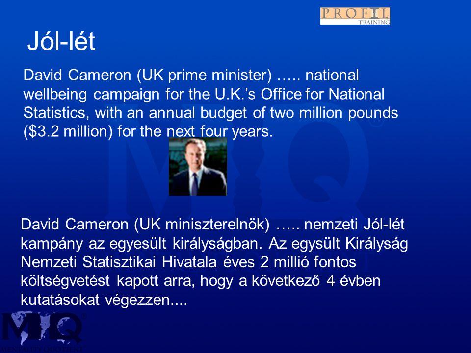 David Cameron (UK miniszterelnök) ….. nemzeti Jól-lét kampány az egyesült királyságban.