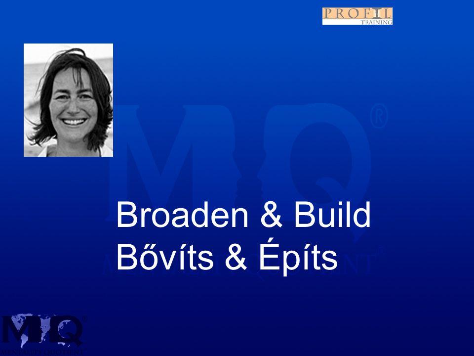 Broaden & Build Bővíts & Építs