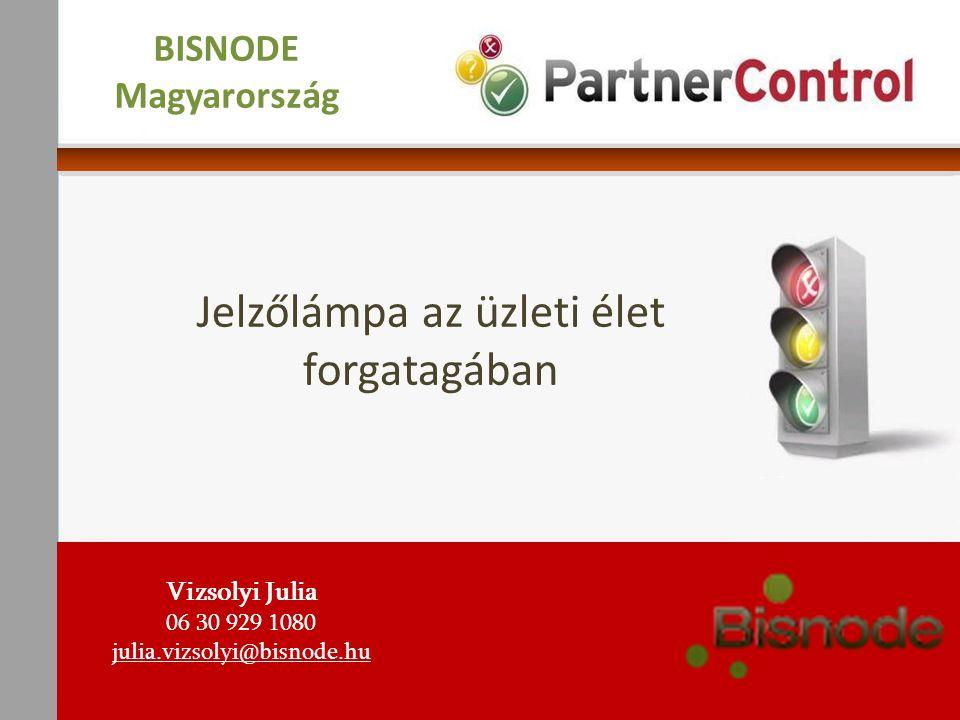 Szakértelmünk háttere  1990 óta a magyar piacon  A svéd Bisnode csoport tagja, mely Európa vezető digitális üzleti információszolgáltatója  Ügyfeleink visszajelzései alapján: legegyszerűbben használható, hiteles céginformáció szolgáltató Vizsolyi Julia 06 30 929 1080 julia.vizsolyi@bisnode.hu