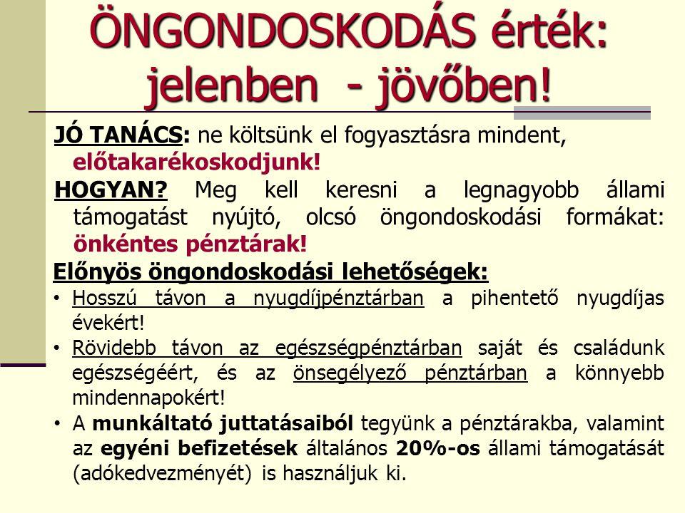 MKB Nyugdíjpénztár előnye 2.1995.