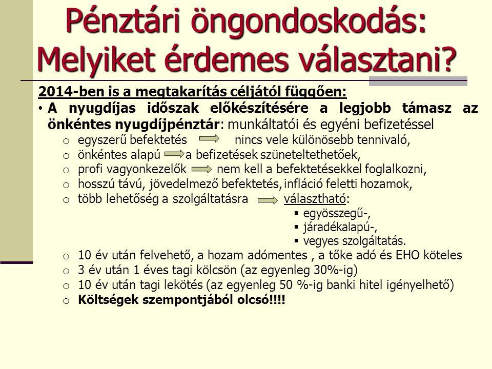 MKB Önsegélyező Pénztár Közösségi szolgáltatásként azonnal, egyéniként 180 nap várakozási idő után nyújtott szolgáltatások:  Szülési segély  Terhességi segély  Gyermeknevelési támogatás  Beiskolázási támogatás (minimálbér/év/gyerek) egyetemistáknak kollégiumi díj, albérleti díj, tandíj is  Munkanélküliségi ellátások  Bányász dolgozók egészségkárosodási járadéka  Rokkantsági járadék, valamint az ápolási díj összegének kiegészítése  Temetés igazolt költségeinek támogatása  Otthoni gondozás támogatása (max.
