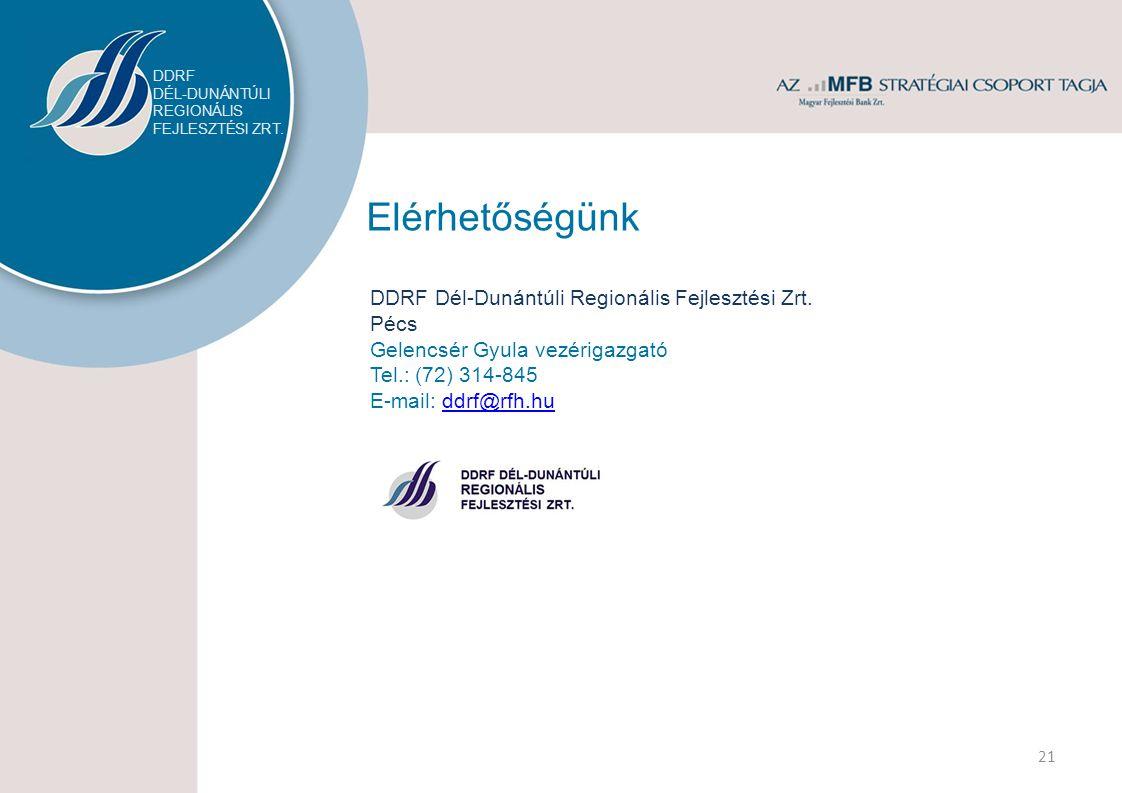Elérhetőségünk DDRF Dél-Dunántúli Regionális Fejlesztési Zrt.