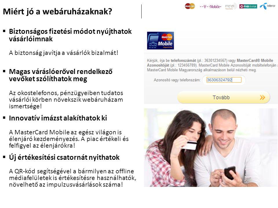 Miért jó a webáruházaknak?  Biztonságos fizetési módot nyújthatok vásárlóimnak A biztonság javítja a vásárlók bizalmát!  Magas váráslóerővel rendelk