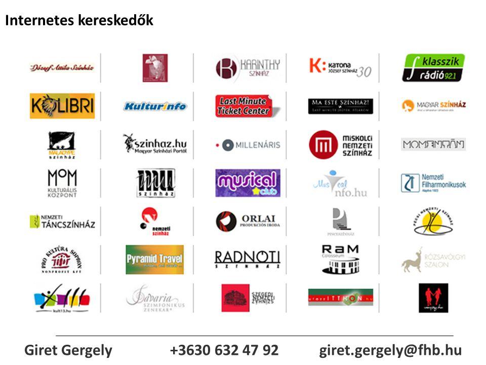 Giret Gergely+3630 632 47 92 giret.gergely@fhb.hu Internetes kereskedők