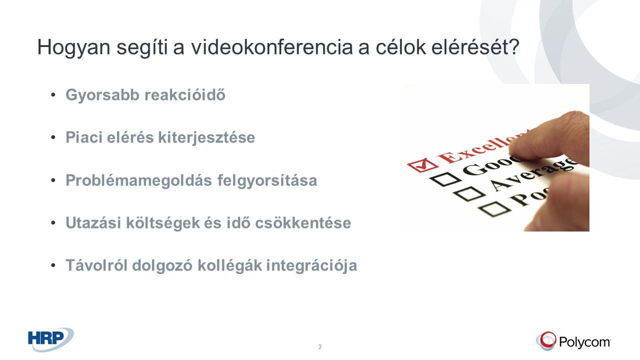 © Polycom, Inc. All rights reserved.3 Hogyan segíti a videokonferencia a célok elérését.
