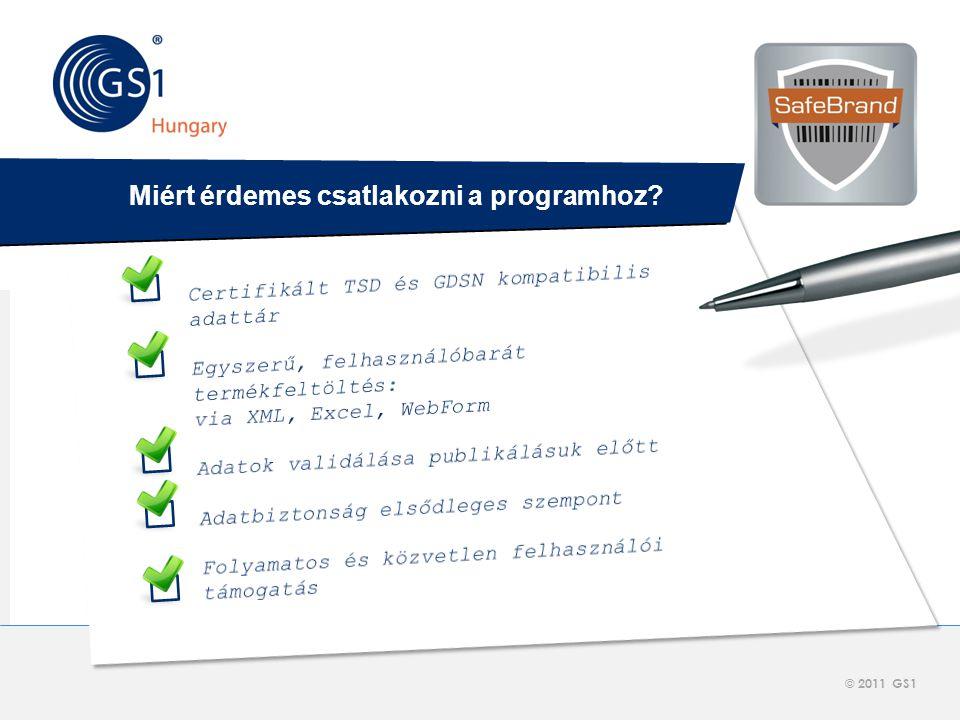 © 2012 GS1 Driving Momentum Together © 2011 GS1     Miért érdemes csatlakozni a programhoz