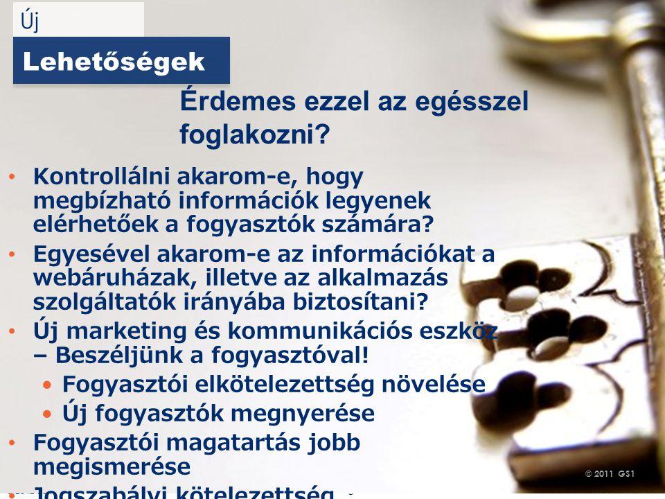 © 2012 GS1 Driving Momentum Together Lehetőségek Kontrollálni akarom-e, hogy megbízható információk legyenek elérhetőek a fogyasztók számára.