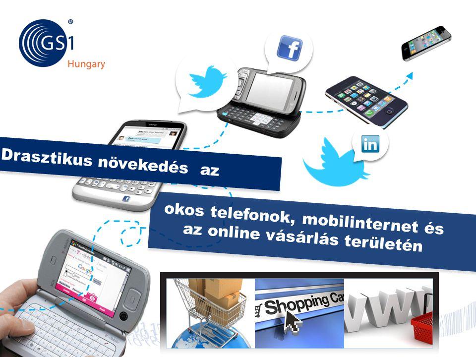 © 2012 GS1 Driving Momentum Together okos telefonok, mobilinternet és az online vásárlás területén Drasztikus növekedés az