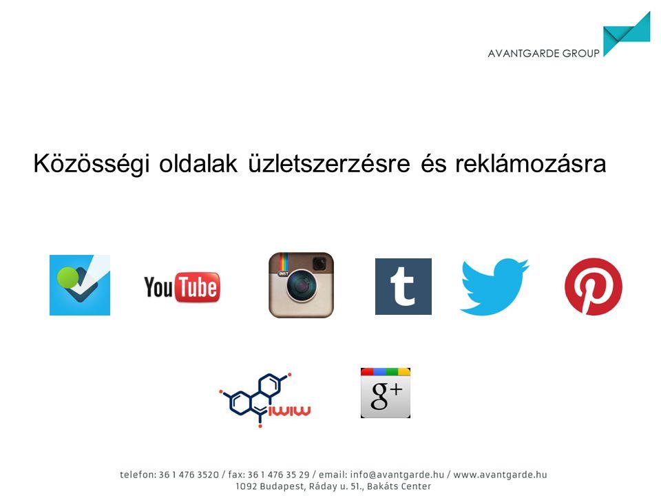 Közösségi oldalak üzletszerzésre és reklámozásra