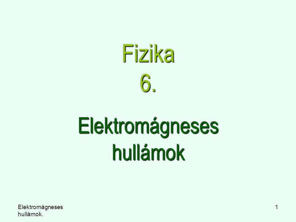 Elektromágneses hullámok. 1 Fizika 6. Elektromágneses hullámok