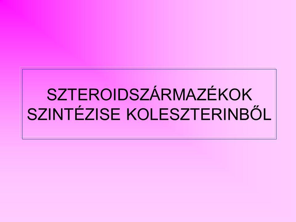 1.SZTERINEK 2.SZTEROIDHORMONOK - KORTIKOSZTEROIDOK - SZEXUÁLHORMONOK 3.