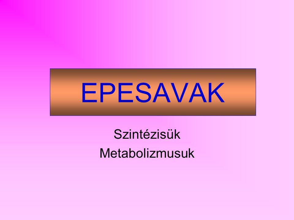 EPESAVAK Szintézisük Metabolizmusuk