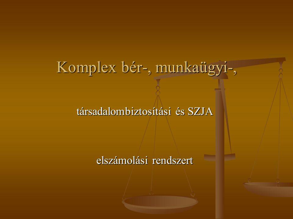 Komplex bér-, munkaügyi-, társadalombiztosítási és SZJA elszámolási rendszert