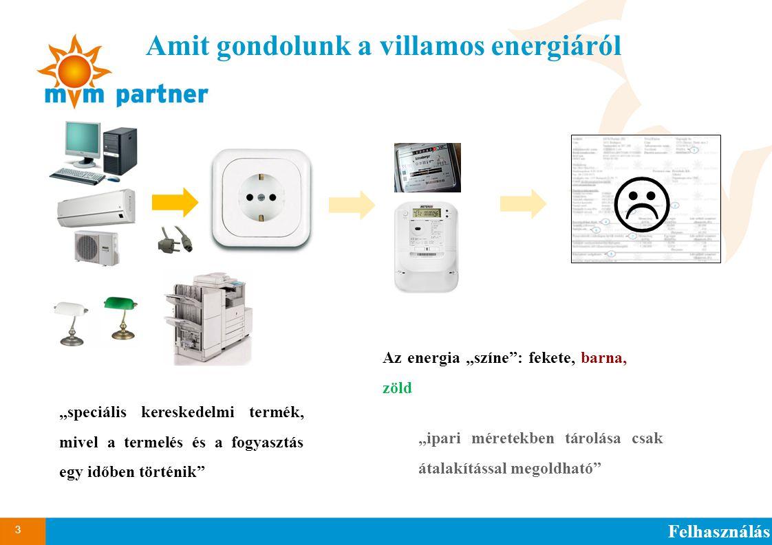 """3 """"speciális kereskedelmi termék, mivel a termelés és a fogyasztás egy időben történik"""" Amit gondolunk a villamos energiáról Felhasználás """"ipari méret"""