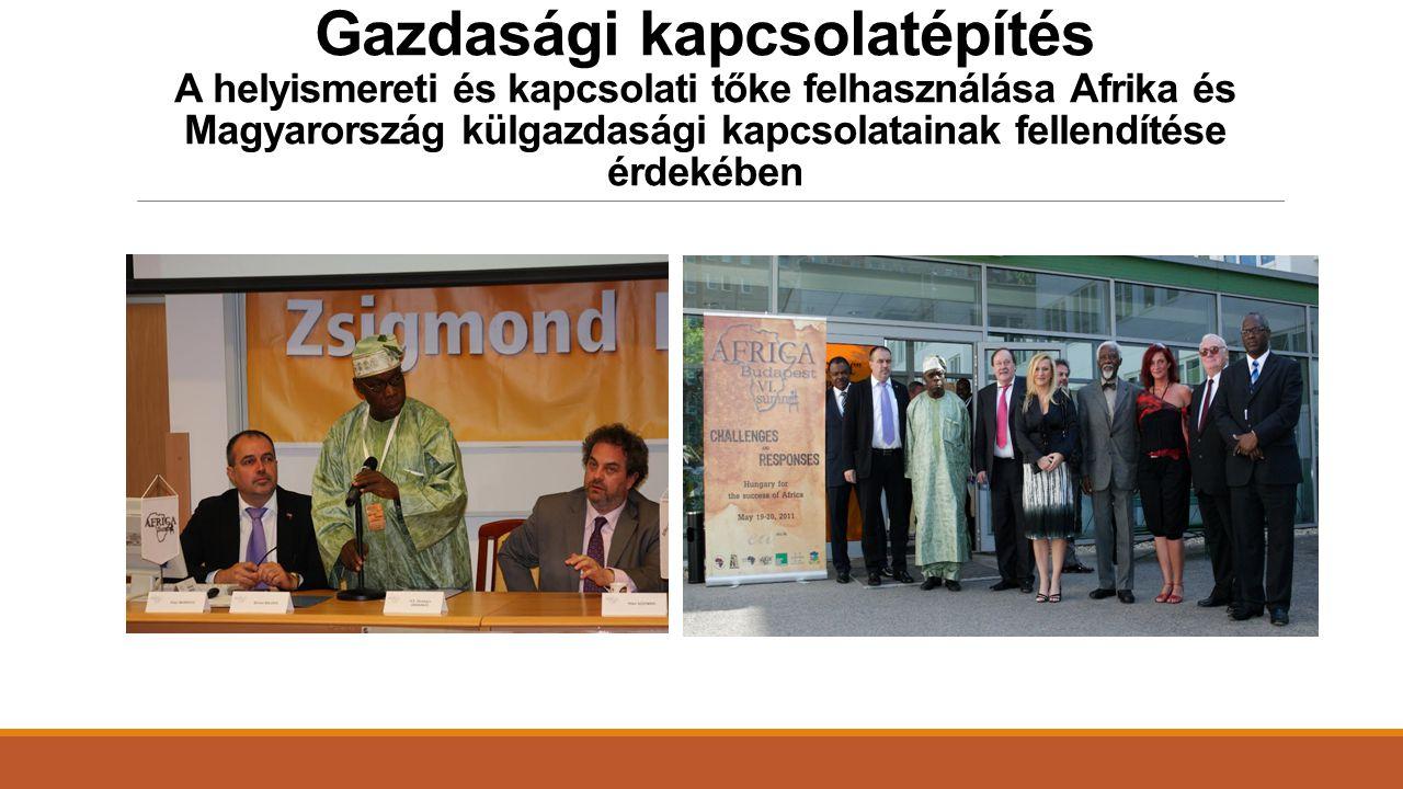 Gazdasági kapcsolatépítés A helyismereti és kapcsolati tőke felhasználása Afrika és Magyarország külgazdasági kapcsolatainak fellendítése érdekében
