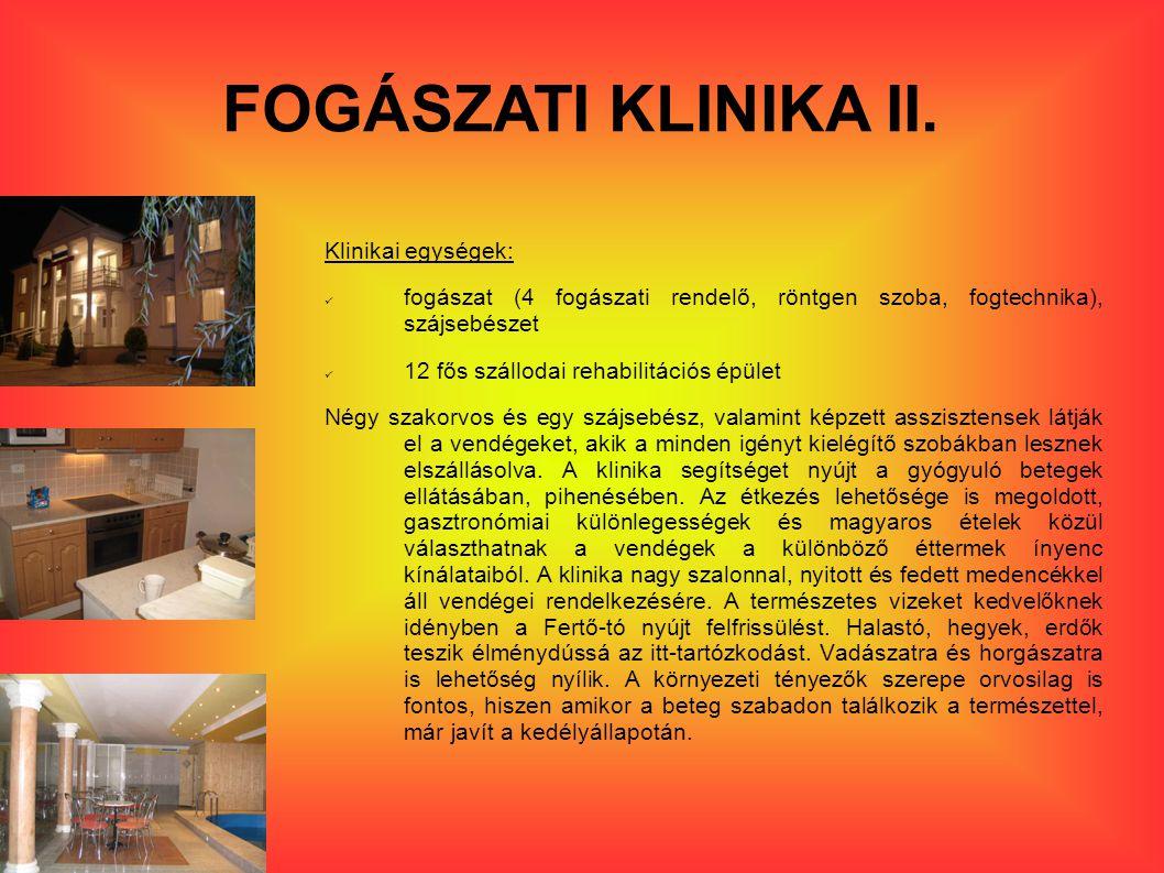 FOGÁSZATI KLINIKA II.