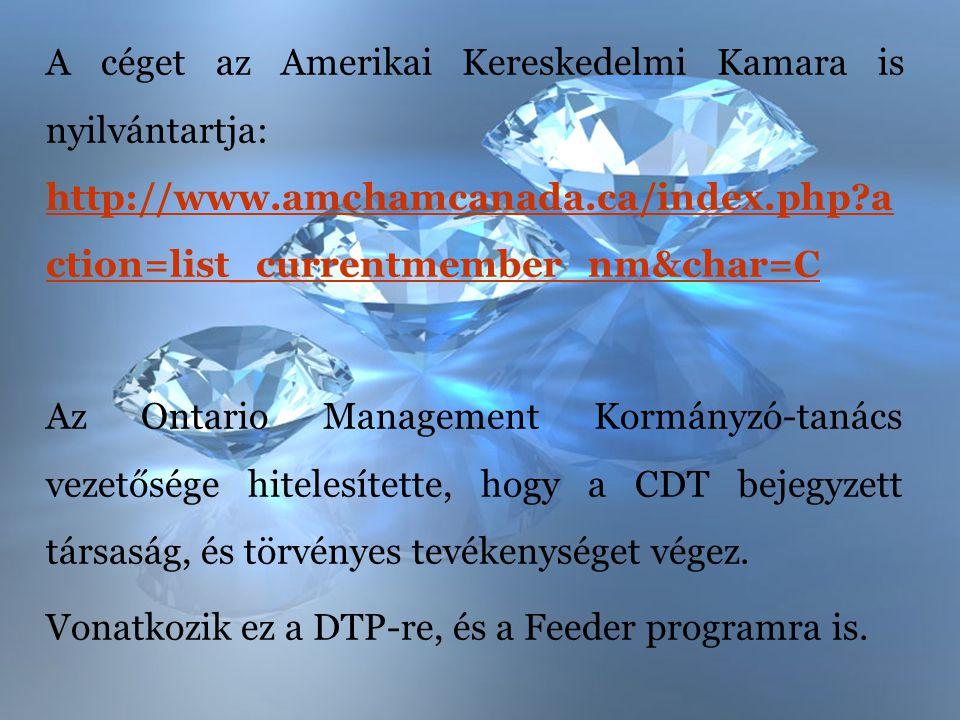 A céget az Amerikai Kereskedelmi Kamara is nyilvántartja: http://www.amchamcanada.ca/index.php?a ction=list_currentmember_nm&char=C http://www.amchamc