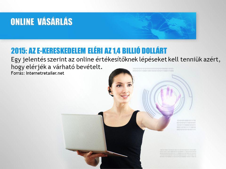 2015: AZ E-KERESKEDELEM ELÉRI AZ 1,4 BILLIÓ DOLLÁRT Egy jelentés szerint az online értékesítőknek lépéseket kell tenniük azért, hogy elérjék a várható bevételt.