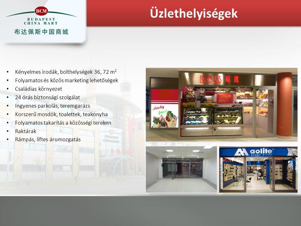 Kényelmes irodák, bolthelységek 36, 72 m 2 Folyamatos és közös marketing lehetőségek Családias környezet 24 órás biztonsági szolgálat Ingyenes parkolá