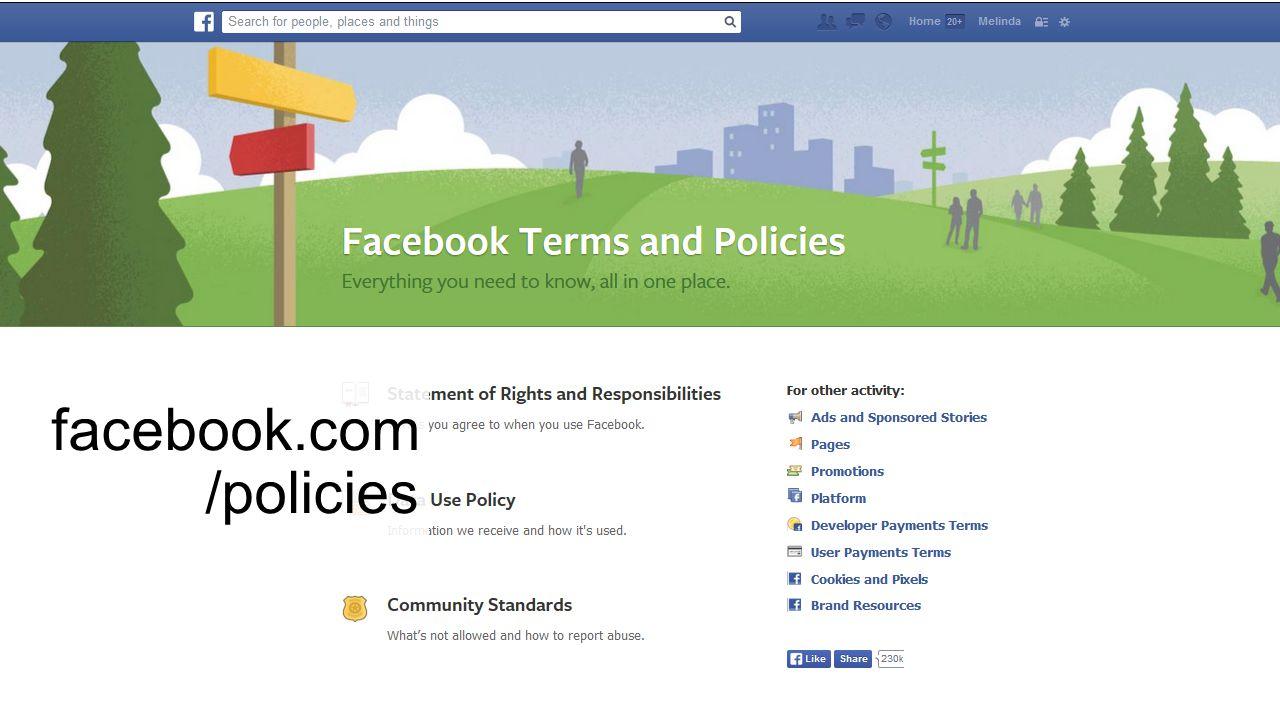 facebook.com /policies
