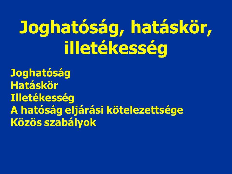 A Ket. területi és időbeli hatálya Területi hatályIdőbeli hatály Néhány kivételtől eltekintve a Magyar Köztársaság területe Összefüggés: joghatósággal