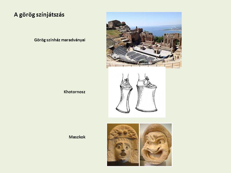 A görög színjátszás Görög színház maradványai Khotornosz Maszkok