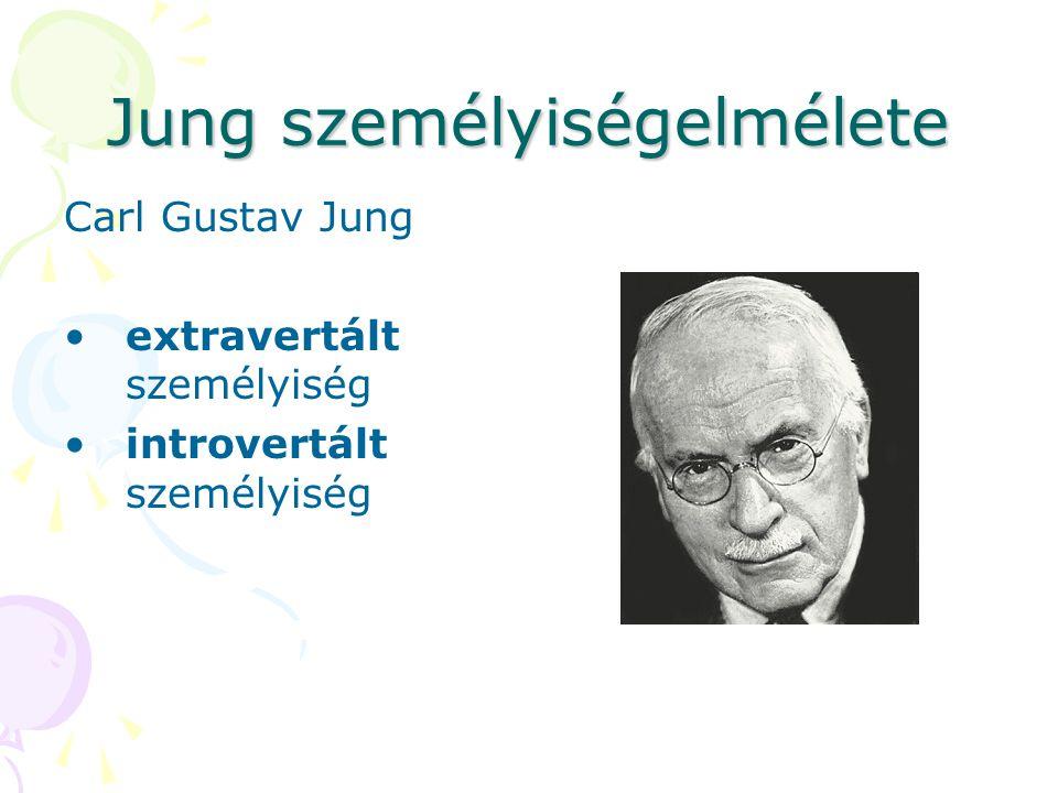 Jung személyiségelmélete Carl Gustav Jung extravertált személyiség introvertált személyiség
